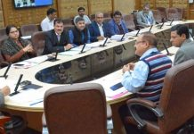 CS chairing a meeting on Wednesday.
