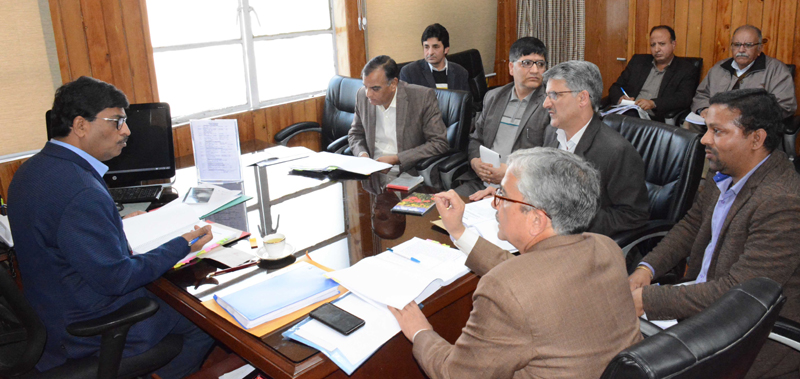FC Finance, Dr. Arun Mehta chairing a meeting on Friday.