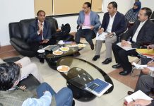 Union Joint Secretary Hukum Singh chairing a meeting in Jammu on Tuesday.