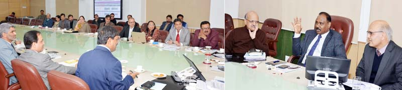Lt Governor chairing a meeting on Tuesday.