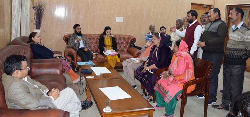 Administrative Secretaries interacting with a delegation on Tuesday.