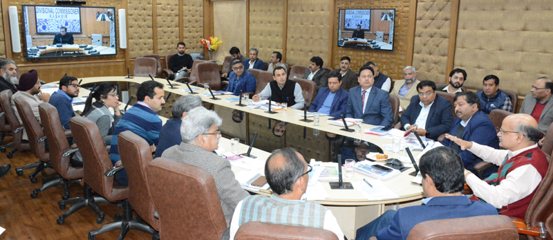 Chief Secretary chairing a meeting on Friday.
