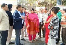 Dy Mayor JMC inspecting developmental works in Ward No. 1 on Tuesday.