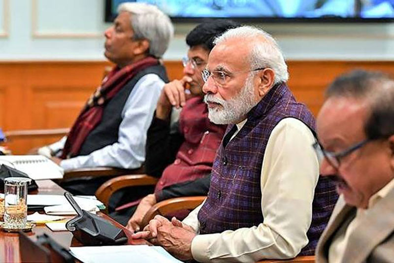 Prime Minister Narendra Modi chairs a meeting of Council of Scientific and Industrial Research (CSIR) Society in New Delhi on Saturday.