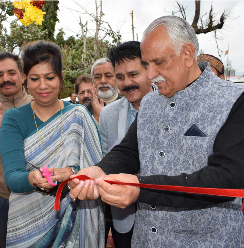 MP S S Manhas inaugurating 100 KVA sub-station in Upper Roop Nagar.