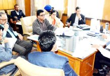 Principal Secretary Housing and Urban Development, Dheeraj Gupta chairing a meeting.