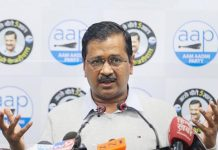 Delhi Chief Minister and AAP convenor Arvind Kejriwal addresses a press conference at the party office, in New Delhi.