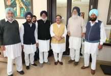 BJP National President Jagat Prakash Nadda met Shiromani Akali Dal (SAD) patron Parkash Singh Badal, in Bathinda on Thursday.