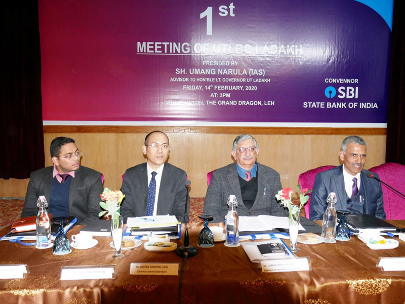 Umang Narula, Advisor to Lt Governor of UT Ladakh chairing a meeting of Bankers Committee at Leh.