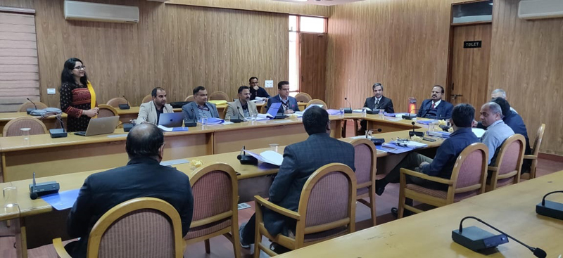 SMVDU VC chairing Managing Council meeting of Technology Business Incubation Centre.