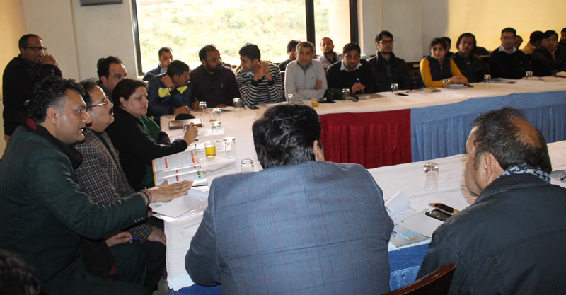 Representatives of business community participating in a programme at Katra on Thursday.