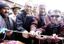 Commissioner Secretary UT Ladakh Rigzin Samphel and others inaugurating 1st Winter Conclave.