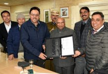 LG Ladakh, Radha Krishna Mathur launching online Stamp Duty Administration System in Ladakh.