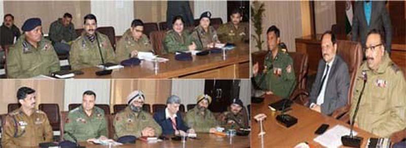 Advisor to Lieutenant Governor Rajiv Rai Bhatnagar and DGP Dilbag Singh interacting with officers at DPL Jammu.