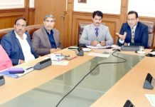 Commissioner Secretary, Labour and Employment, Saurabh Bhagat chairing a meeting on Thursday.
