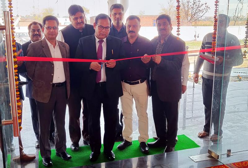 Chairman J&K Grameen Bank, JR Angural inaugurating a resort at Sarore in Samba on Thursday.
