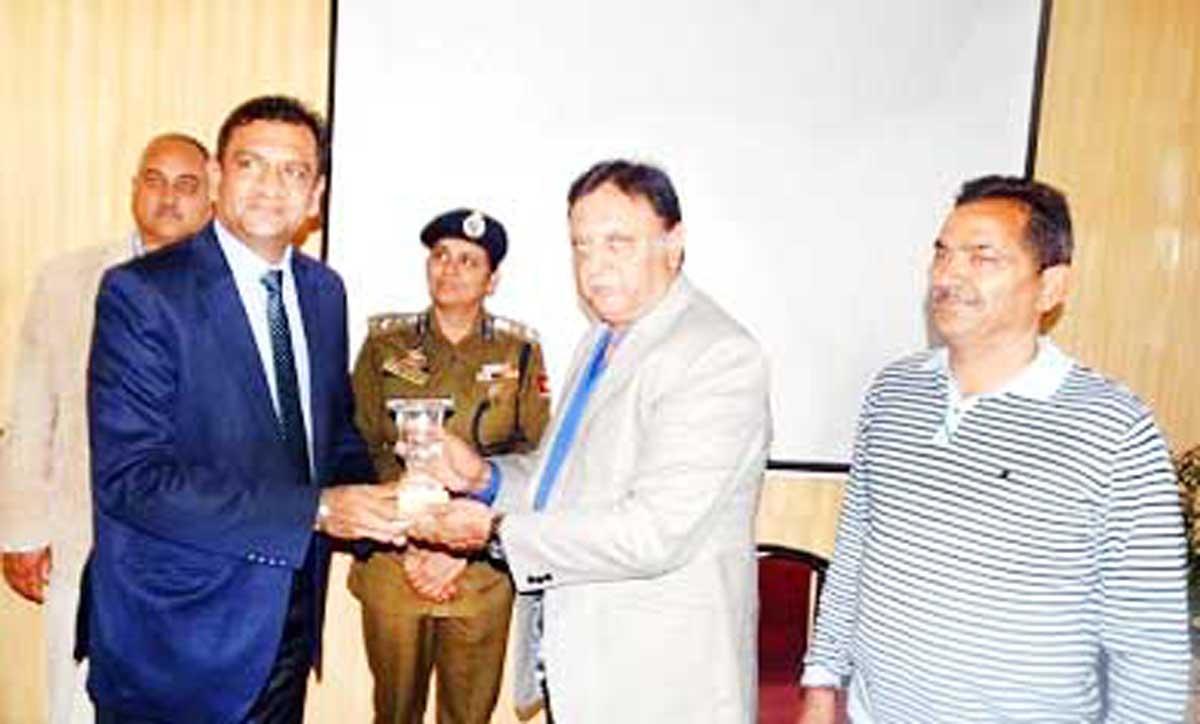 ADGP Muneer Ahmed Khan during a workshop on 'Platinum ten minutes' held on Monday.