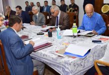 Lieutenant Governor chairing meeting of Shri Mata Vaishno Devi Shrine Board.