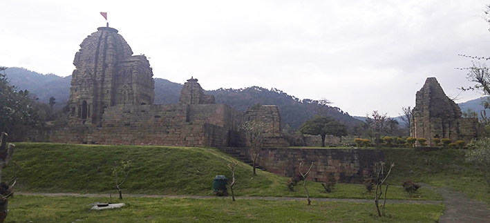 """A view of Krimchi Temples commonly known as """"Pandavas Temples' in Udhampur district. (UNI)"""