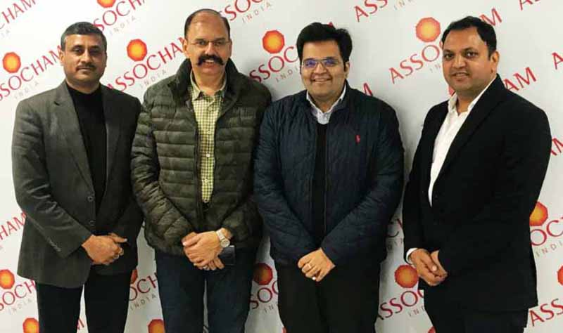 Heads of newly formed managing committees of ASSOCHAM J&K posing for a group photograph.