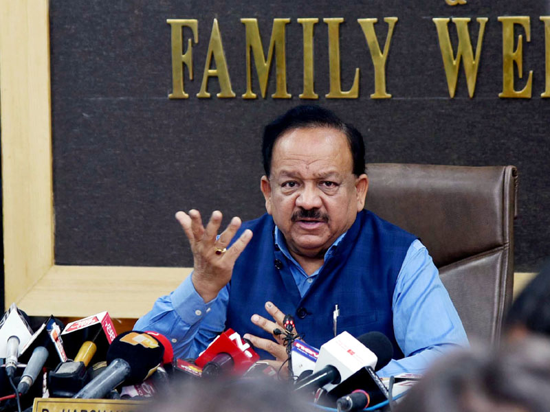 Union Minister for Health & Family Welfare, Science & Technology and Earth Sciences, Dr. Harsh Vardhan addressing a press conference on the updates and preparedness on Novel Coronavirus (COVID-19), in New Delhi on Wednesday.