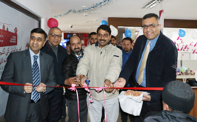 Secretary Information Technology, Saugat Biswas inaugurating Aadhaar Sewa Kendra at Axis Bank Branch in Ladakh on Tuesday.