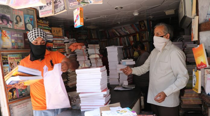 A book shop opened in Jammu on Wednesday. —Excelsior/Rakesh