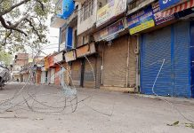 Complete lock down in Udhampur on Sunday. —Excelsior/K Kumar