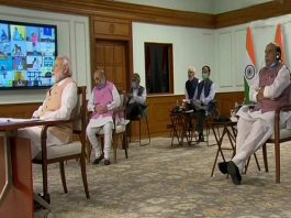 Prime Minister Narendra Modi addressing the Council of Ministers in New Delhi on Monday.