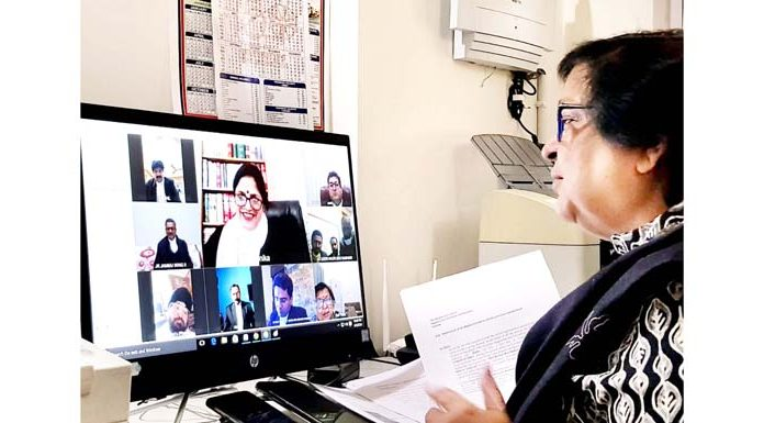 Chief Justice Gita Mittal hearing PIL through video-conference on Saturday.