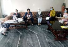 GMC Kathua faculty members meeting health quarantined workers in Kathua on Saturday.