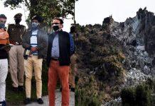 DDC Kishtwar during visit to landslide hit areas.