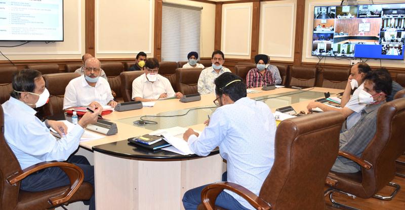 Advisor R R Bhatnagar chairing a meeting on Thursday.