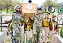 Wreath laying ceremony of a martyr at Srinagar. -Excelsior/Shakeel