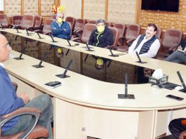 Chief Secretary chairing a meeting at Jammu on Tuesday.