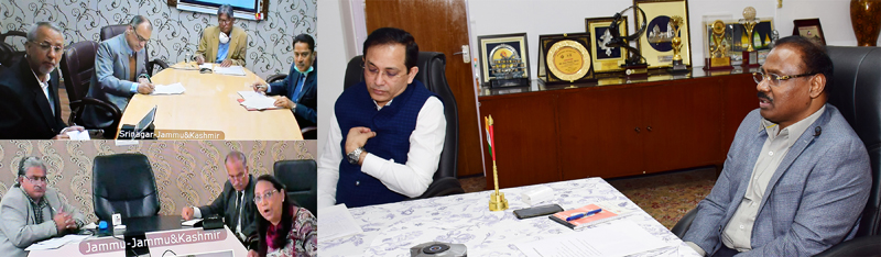Lt Governor interacting with Vice Chancellors of Universities of J&K.