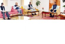 Lieutenant Governor Girish Chandra Murmu presiding over the AC meeting in Jammu on Wednesday.