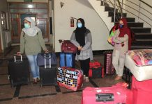 Students who have completed 14 days quarantine all set to leave for their homes. -Excelsior/Shakeel
