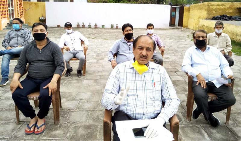 Sham Lal Basson, Councillor of Ward Number 48, Bahu Fort (West) addressing media persons at Jammu.