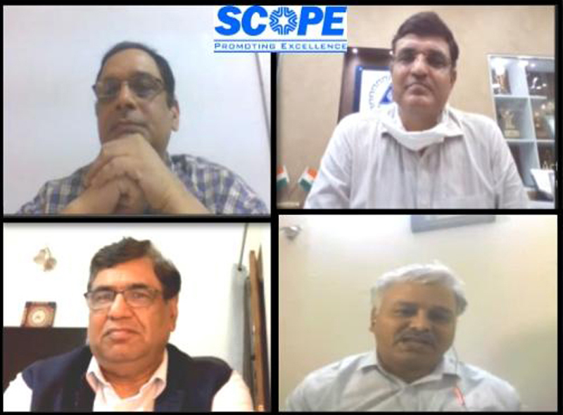SCOPE members holding webinar with Jt Secy, Ministry of Corporate Affairs.