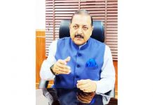 "Union Minister Dr Jitendra Singh participating in an exclusive ""Town Hall"" program conducted by Arnab Goswami on Republic TV on Saturday."