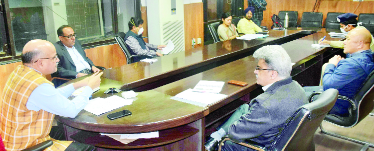 Chief Secretary chairing a meeting on Wednesday.