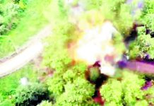 A car bomb detonated by the Bomb Disposal Squad in Rajpora, Pulwama on Thursday.