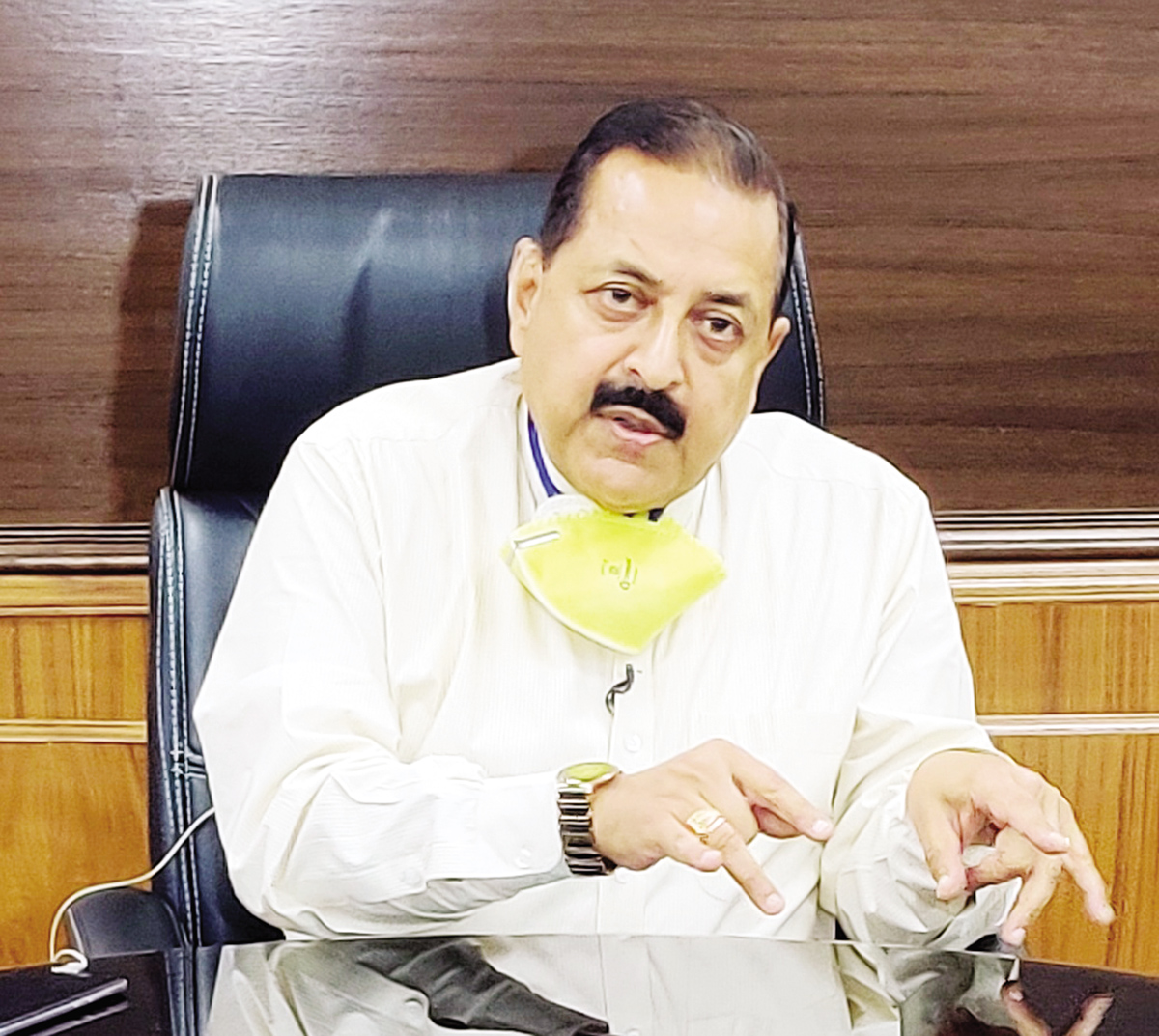 Union Minister Dr Jitendra Singh in an exclusive interview on national TV channel ABP News, to mark the completion of one year of Modi Government 2.0,on Friday.