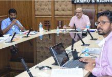 Chief Secretary BVR Subrahmanyam chairing a meeting on Friday.