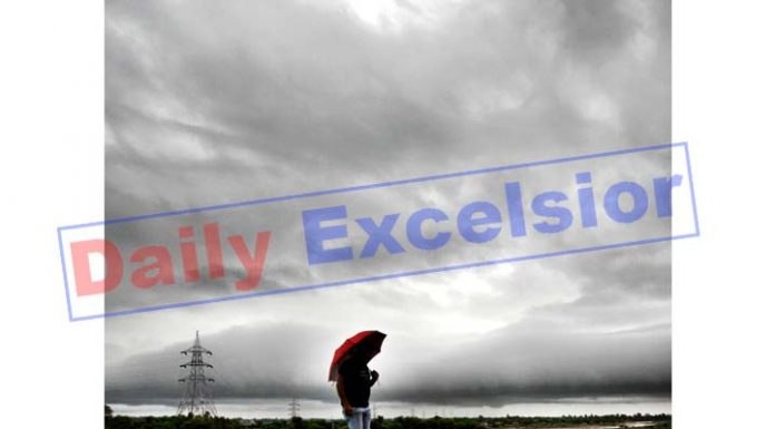 Clouds hover over Jammu on Thursday. -Excelsior/Rakesh