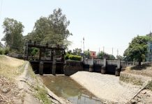 Irrigation canal turns dry in Kathua on Tuesday. -Excelsior/Madan Magotra