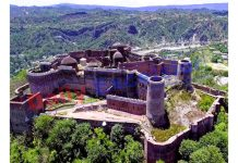 A splendid view of Bhimgarh Fort in Reasi. —Excelsior/Karandeep Singh