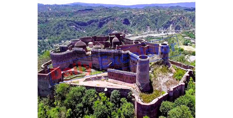 A splendid view of Bhimgarh Fort in Reasi. —Excelsior/Karandeep Singh