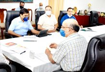 Lieutenant Governor Girish Chandra Murmu chairing a meeting in Jammu on Friday.